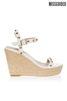 Missguided Strap Studded Wedges