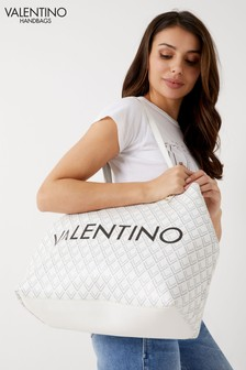 Mario Valentino Check Reversible Tote Bag