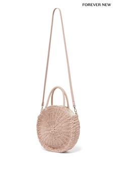 Forever New Round Straw Bag