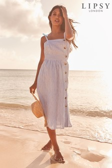 Lipsy Button Through Beach Dress