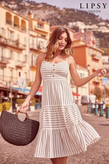 Lipsy Tiered Stripe Beach Dress