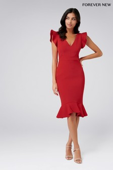 dca133c140 Forever New Ruffle Midi Dress