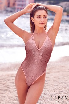Lipsy Sequin Swimsuit
