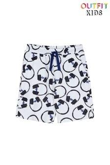 Трикотажные шорты с принтом наушников Outfit Kids