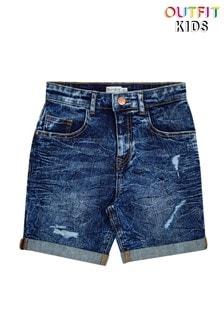 Темные выбеленные джинсовые шорты Outfit Kids