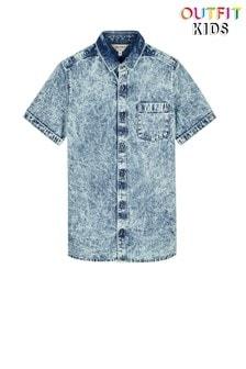 Джинсовая рубашка с отложным воротником Outfit Kids