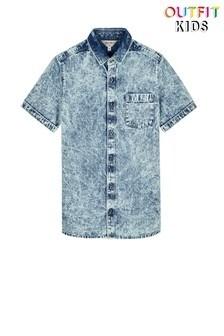 Outfit Kids Denim Revere Collar Shirt