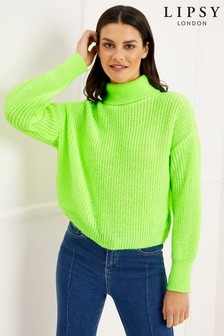 Lipsy Neon Roll Neck Jumper