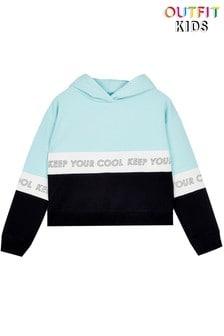 Outfit Kids Panel Crop Hoodie
