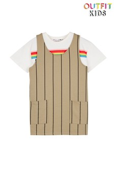 Outfit Kids Jersey Pinafore Tee Set