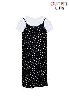 Платье-комбинация в горошек Outfit Kids