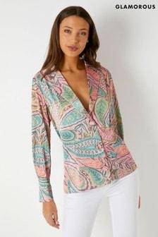 Glamorous Paisley Wrap Jacket