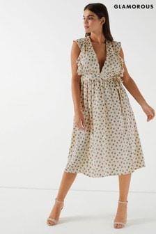 9f4c5a24907 Glamorous Plunge Ruffle Dress