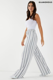Glamorous Striped Wide Leg Trousers
