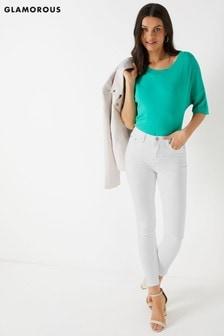 جينز ضيق بخصر مرتفع من Glamorous