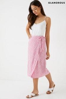 Glamorous Wrap Midi Skirt