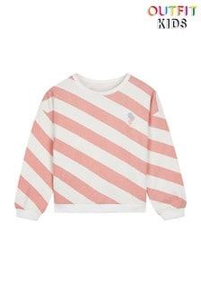 Outfit Kids Diagonal Stripe Ice Cream Badge Sweatshirt