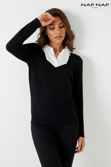 Naf Naf 2-In-1 Collared Jumper