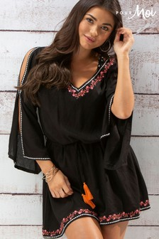 Pour Moi Hot Spots Ditsy Embroidered Cover Up