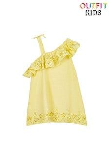 Платье с открытым плечом и оборкой Outfit Kids