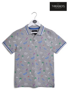 Threadboys Summer Print Polo T-Shirt
