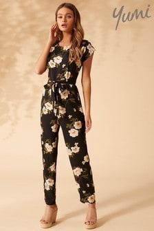 Yumi Flower Print Jumpsuit