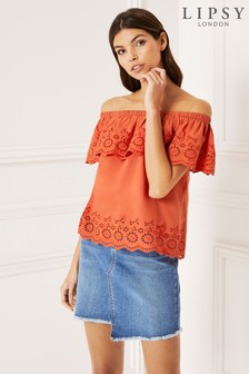Lipsy Broderie Bardot Top