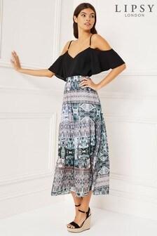 Lipsy Paisley Tier Maxi Skirt