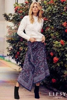 Lipsy Border Paisley Midi Skirt