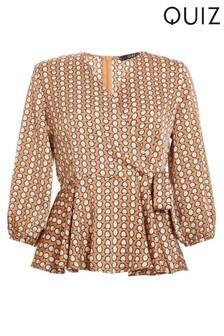 Sukienka koszulowa z geometrycznym nadrukiem Quiz