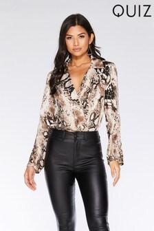 Quiz Snake Print Bodysuit 8287834fcf