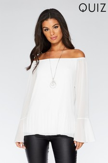 Quiz White Bardot Top