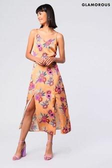 Glamorous Floral Print Midi Dress