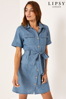 Lipsy Lightweight Utility Shirt Dress