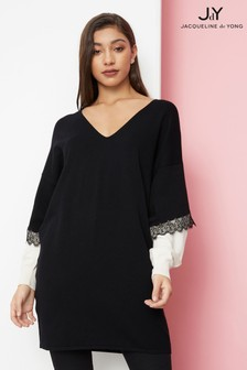 JDY Long Sleeve V neck Knit Dress