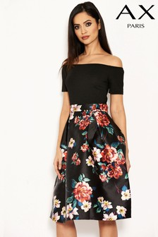 AX Paris 2-In-1 Floral Skirt Dress