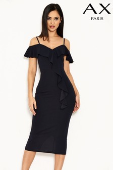 AX Paris Frill Front Midi Dress