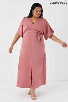 90958fdd74 Glamorous Curve Pink Maxi Dress