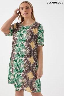 Glamorous Curve Floral Dress