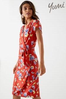 Yumi Printed Wrap Dress