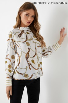 af23eef4a71dc White · Yellow · Dorothy Perkins Petite Floral Print Top