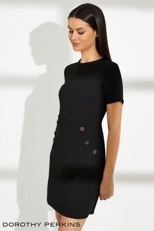 Dorothy Perkins Petite Crepe Button Front Dress