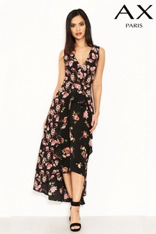 AX Paris Floral Print Frill Dress