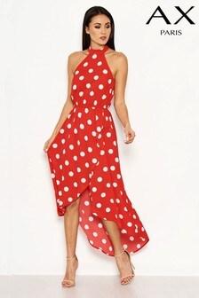 AX Paris Halterneck Polka Dot Dress