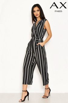 AX Paris Striped Wrap Jumpsuit