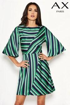 AX Paris Satin Striped Day Dress