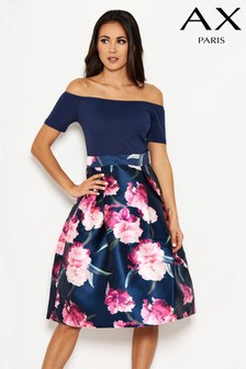 AX Paris 2-In-1 Floral Midi Skirt Dress