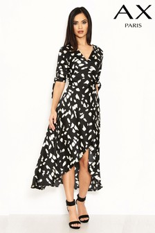 AX Paris Satin Wrap Midi Dress