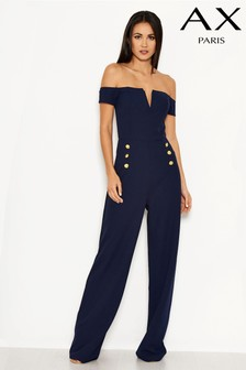 AX Paris Off Shoulder Notch Jumpsuit