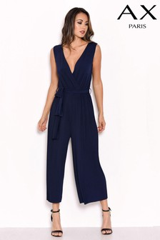 AX Paris Pleated Culotte Jumpsuit